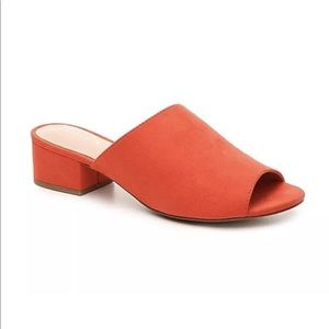Kelly & Katie AMOUR Red Mules Size 6.5 NEW!